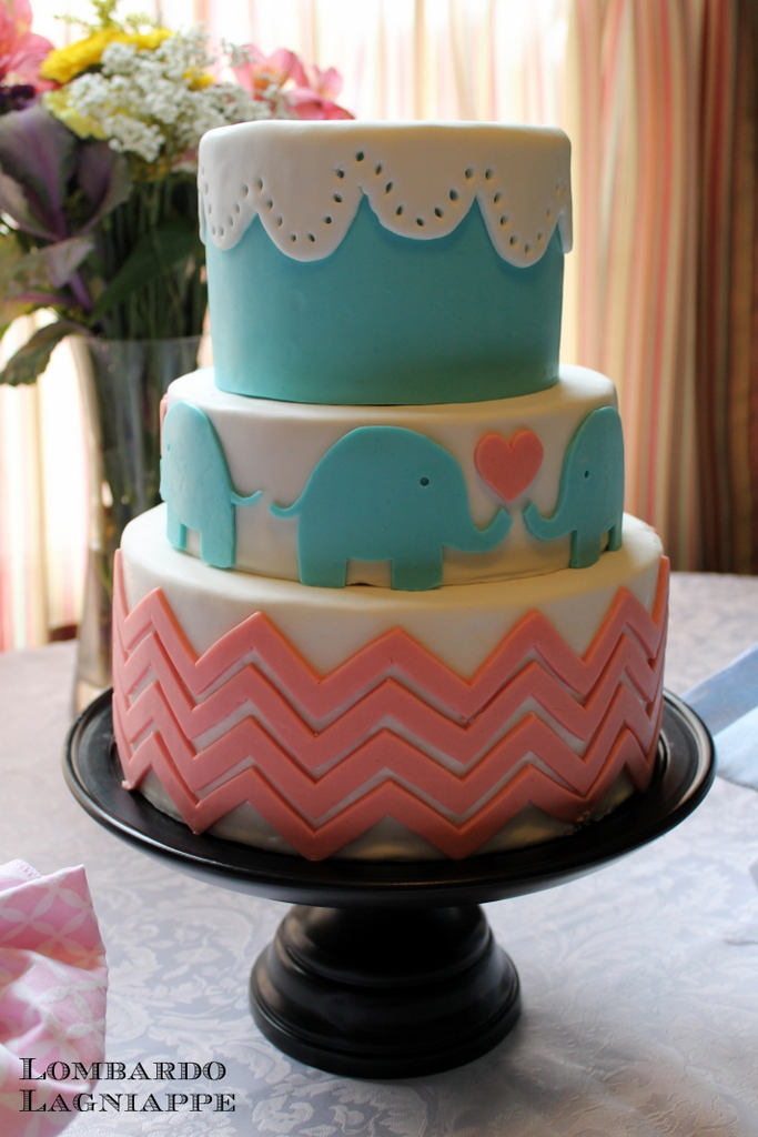 Another Sweet Elephant Party Cake For Birthdays Or Baby Showers